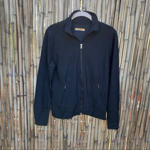 Lucy zip up light weight track jacket black Sz M
